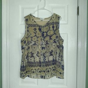 Women's CJ BANKS sleeveless top print